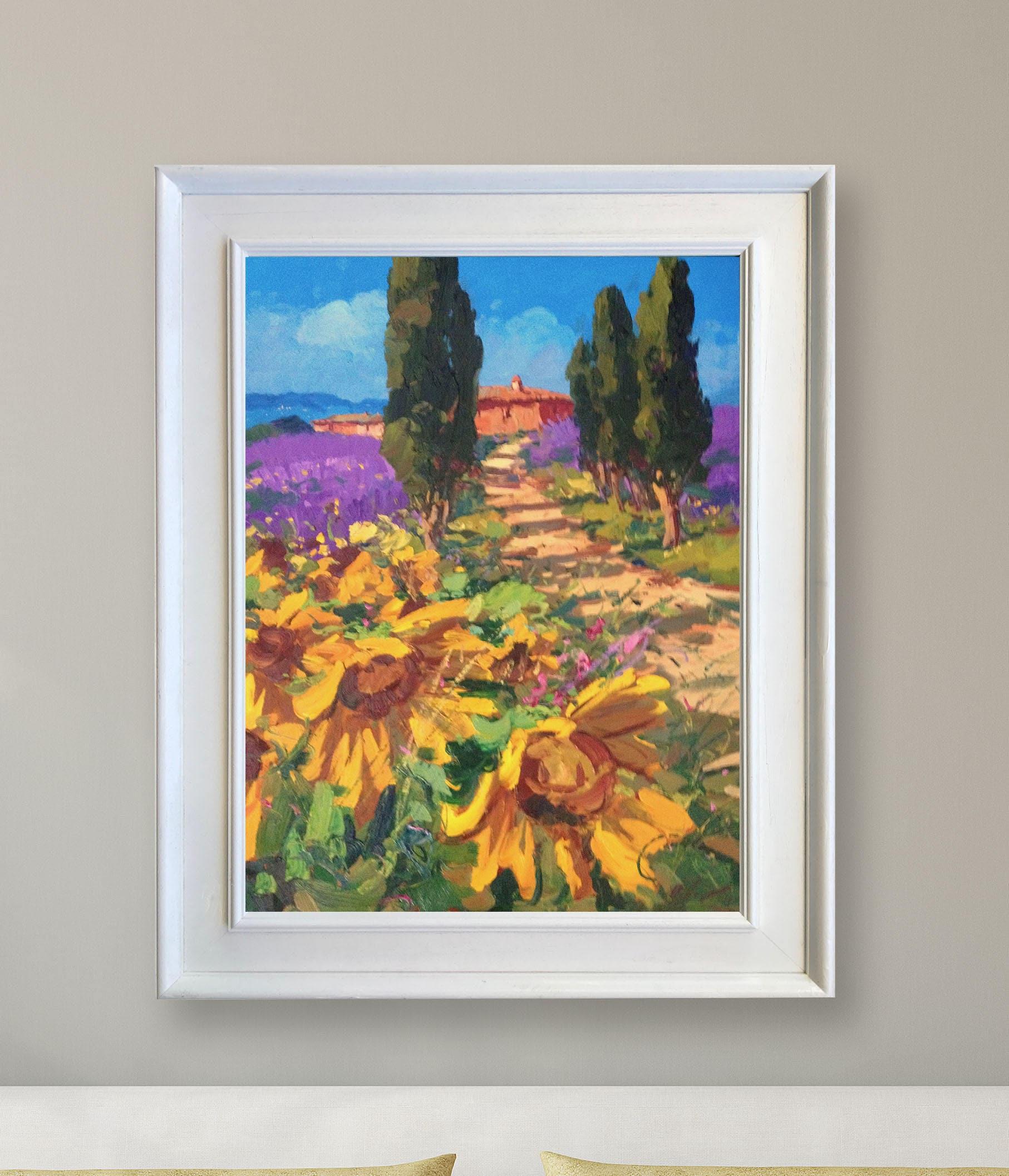 Italien Malerei Sonnenblumen Gemälde Tuscany Malerei Land