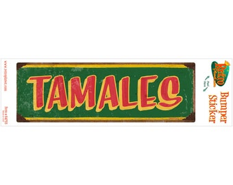 Tamales Mexican Food Vinyl Sticker Green - #64753