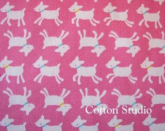 Kawaii Goat Japanese Fabric Pink 1 Yard