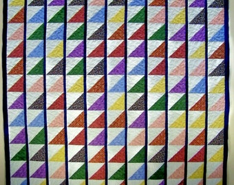 Colorful flags quilt