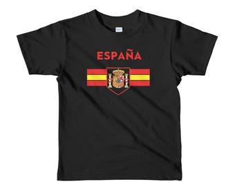 Spain Kids World Cup Soccer Shirt Boys Girls España