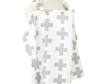 Grayson's Gray   Gray and White Nursing Cover