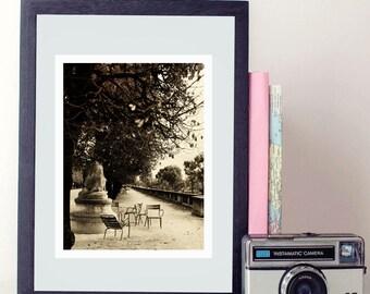 B&W paris photography, photo print, paris photo - whimsical fine art photography, black and white, le louvre, vintage, wall art, home decor