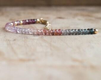Gemstone Bracelet, Mothers Day, Mom Gift for Her, Multi Spinel Bracelet, Beaded Bracelet, Boho Jewelry, Gemstone Jewelry, Dainty Jewelry