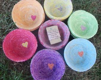 Handmade 100% Cotton Rainbow Bowls