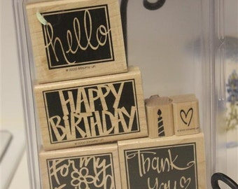 Stampin' Up! Retired Vivid Greetings wood mount