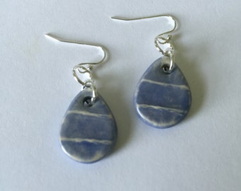 Ceramic Tear Drop Earrings