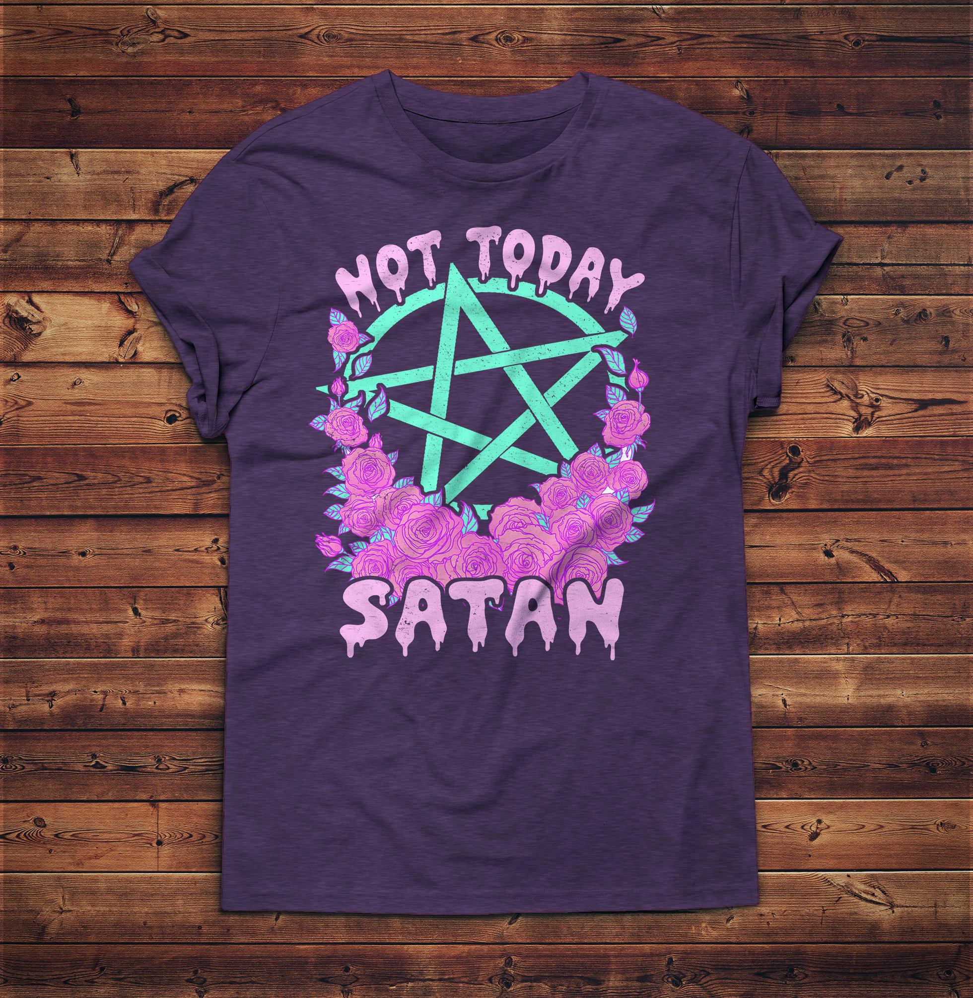 Not Today Satan Vaporwave Aesthetic Clothing Aesthetic