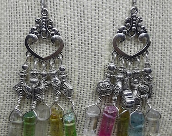 Crystals and Charms Chandelier earrings