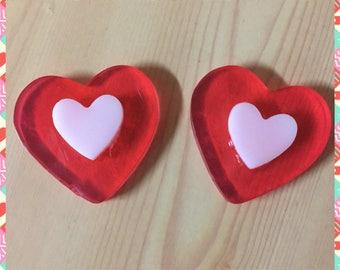 18 Valentine's Day Small Hearts soaps