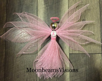 Breast cancer angel, breast cancer awareness,  gifts for her, memorial gifts, cancer awareness gift, breast cancer decor