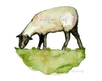 Lamb Print, Sheep Print, Sheep Art, Easter,  Watercolor Print, Wall Art, Nursery Art
