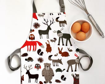Woodland apron / toddler apron / childrens apron