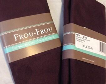 Color plum suede fabric