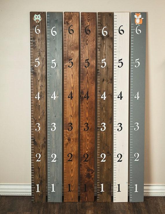Customizable growth chart ruler wooden growth chart wall