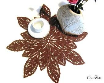 Brown crochet doily, Centrino Marrone