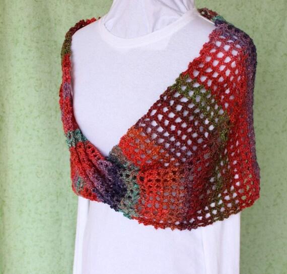 Crocheted Wrap Pattern Crochet Cowl Pattern Trellis Crochet
