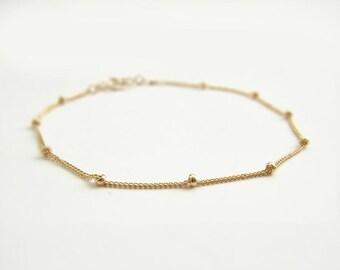 Gold Satellite Bracelet. Dainty 14K GF Bracelet. Everyday Jewelry. Simple Modern Jewelry by PetitBlue
