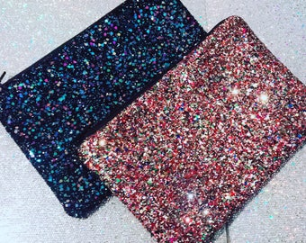 Crushed Glitter Cosmetic Mini Bag