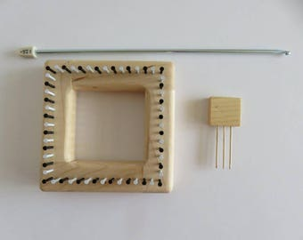 "Hazel Rose Loom Kit - Square - 3.5"" - Maple"