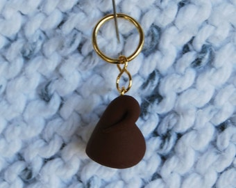 Chocolate Kisses Knitting or Crochet Stitch Markers - Set of 5