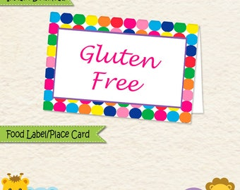 Instant Download Music Theme Food Label • Music Food Tent • Music Party Decorations • Sticker label • Allergy Card  • Place Card • 037mg2