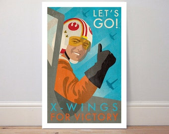 Poster 'X-Wings for Victory' Star Wars colour print