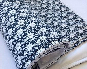 Portable Waterproof Baby Change Mat - Organic Navy Floral