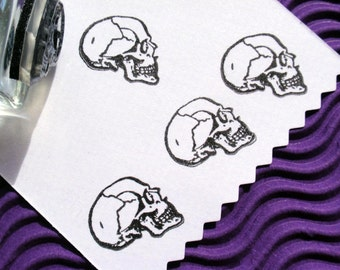 Skull Rubber Stamp --  Handmade rubber stamp by BlossomStamps