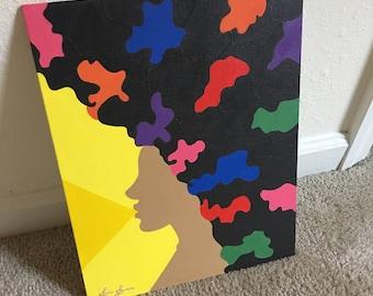 Speak 'N Volumes, Afro Painting, Natural Hair
