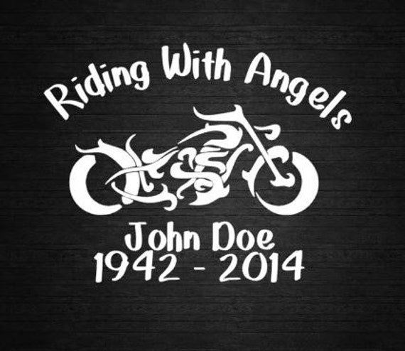 Motorcycle Riding With Angels Motorcycle In Memory Decal