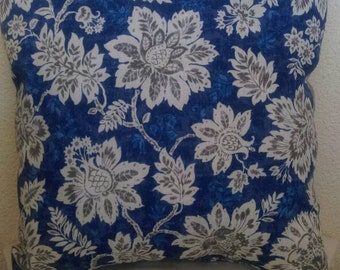 Solid Floral Print Throw Pillow - LIMITED AVAILABILITY...fabric has been discontinued