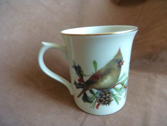 Lenox winter greetings mug cardinals catherine mcclung artist lenox winter greetings mug cardinals catherine mcclung artist fine porcelain japan m4hsunfo