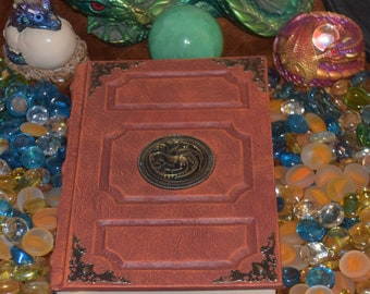 Game of thrones hydra dragon book tome grimoire spellbook wicca larp cosplay