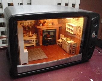 Interior un horno de la cocina