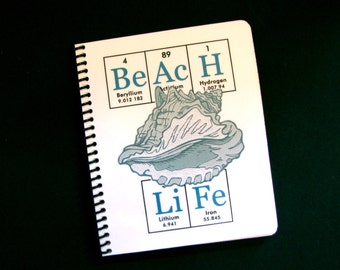 Beach Life Journal Notebook ElementeesTM for the nerd in you