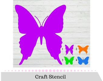 Butterfly Stencil - Butterfly Craft Stencil - Art Stencil - Craft Stencil - Stencils - Reusable Stencil - Great for Walls, Clothes, Wood