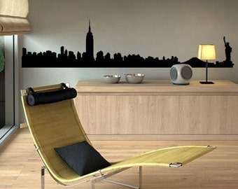 NYC Manhattan Skyline Decal - Vinyl Wall Sticker