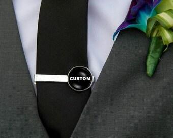 Custom Tie Clip, Gold or Silver Tie Clip, Personalized Tie Bar