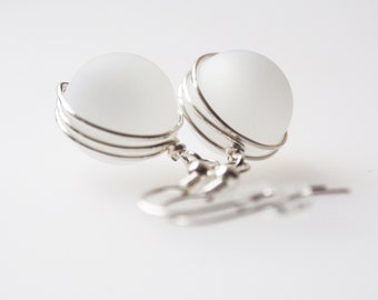 earrings white silver in many colors