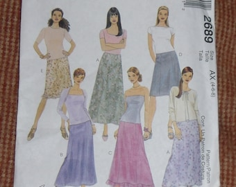 McCall's Pattern #2689 Skirts Size AX 4-6-8 Uncut and Unused