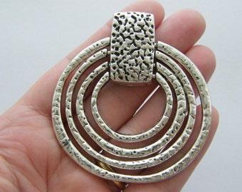 1 Pendant antique silver tone BFM18