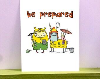 Be Prepared - giclee print
