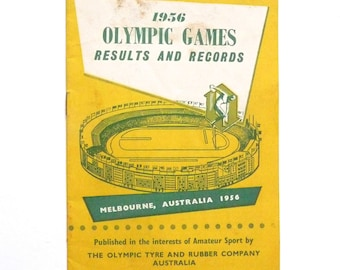 Vintage Olympic Games Book 1956 Olympic Games Results and Records Melbourne Australia