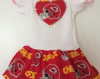 Kansas City Chiefs Inspired Infant Dress