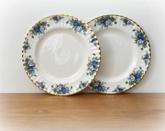 Dinner Plates Royal Albert Midnight Rose China