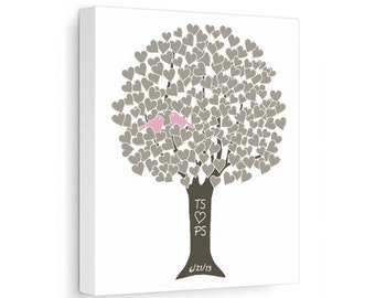 Personalized Canvas:  Anniversary Tree Custom Wedding Gift Engagement Bridal Present Customized Wall Art