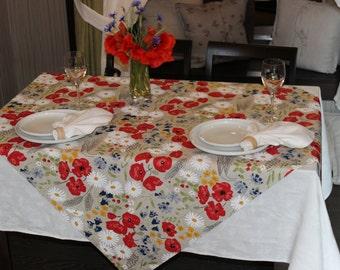 Linen waterproof Tablecloth