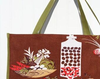 Mid-Century Modern Tote Bag - Farmers Market Bag - Reusable Grocery Bag