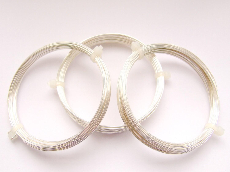1mm Silberdraht nicht trüben Kupfer versilbert 18 Gauge 4